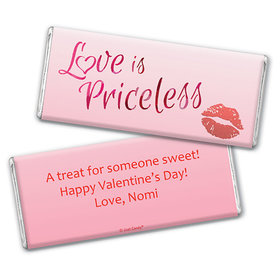 Personalized Valentine's Day Love is Priceless Chocolate Bar & Wrapper