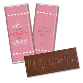 Personalized Valentine's Day Heart of Our Business Hershey's Embossed Chocolate Bar & Wrapper