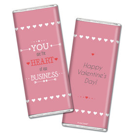 Personalized Valentine's Day Heart of Our Business Hershey's Chocolate Bar & Wrapper