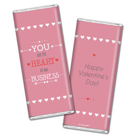 Personalized Valentine's Day Heart of Our Business Hershey's Chocolate Bar Wrappers Only
