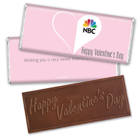 Personalized Valentine's Day Add Your Logo Heart Hershey's Embossed Chocolate Bar & Wrapper