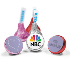Add Your Logo Valentine's Day HERSHEY'S KISSES Candy