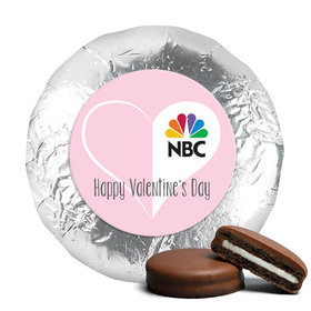 Personalized Valentine's Day Add Your Logo White Heart Chocolate Covered Oreos (24 Pack)