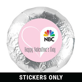 "Personalized Valentine's Day Add Your Logo White Heart 1.25"" Stickers (48 Stickers)"