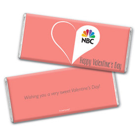 Personalized Valentine's Day Add Your Logo Heart Hershey's Chocolate Bar & Wrapper