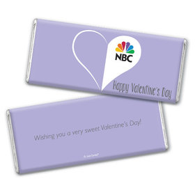 Personalized Valentine's Day Add Your Logo Heart Hershey's Chocolate Bar & Wrapper (3oz Bar)