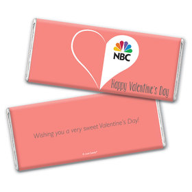 Personalized Valentine's Day Add Your Logo Heart Hershey's Chocolate Bar Wrappers Only