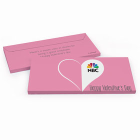 Deluxe Personalized Add Your Logo Heart Valentine's Day Candy Bar Cover