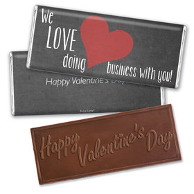 Personalized Valentine's Day Business Love Hershey's Embossed Chocolate Bar & Wrapper