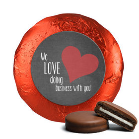 Valentine's Day Business Love Belgian Chocolate Covered Oreos (24 Pack)