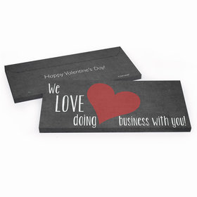 Deluxe Personalized Business Love Valentine's Day Candy Bar Cover