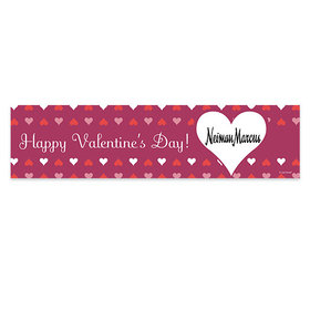 Valentine's Day Reflecting Hearts Banner