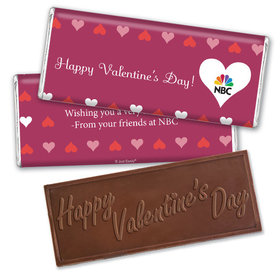 Personalized Valentine's Day Add Your Logo Hearts Hershey's Embossed Chocolate Bar & Wrapper