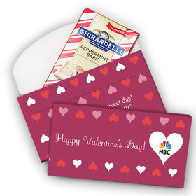 Deluxe Personalized Add Your Logo Hearts Valentine's Day Ghirardelli Chocolate Bar in Gift Box (3.5oz)