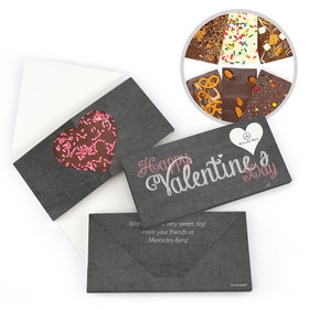 Personalized Business Heart Valentine's Day Gourmet Infused Belgian Chocolate Bars (3.5oz)