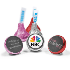 Add Your Logo Charcoal Valentine's Day HERSHEY'S KISSES Candy