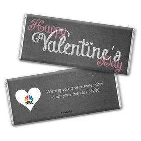 Personalized Valentine's Day Add Your Logo Charcoal Hershey's Chocolate Bar & Wrapper