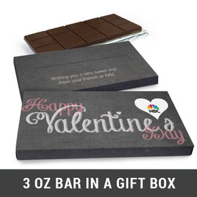 Deluxe Personalized Charcoal Heart Valentine's Day Chocolate Bar in Gift Box (3oz Bar)