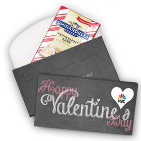 Deluxe Personalized Add Your Logo Heart Valentine's Day Ghirardelli Chocolate Bar in Gift Box (3.5oz)