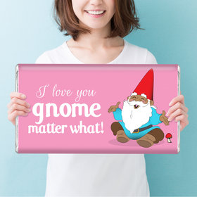 Personalized Valentine's Day Gnome Giant 5lb Hershey's Chocolate Bar
