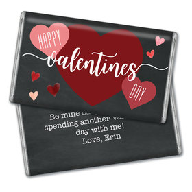 Personalized Valentine's Day Chalkboard Giant 1lb Hershey's Chocolate Bar
