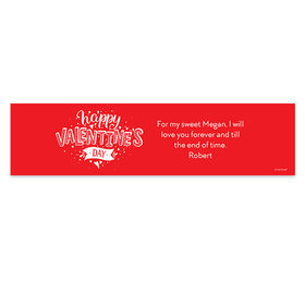 Personalized Valentine's Day Hearts and Hugs Banner