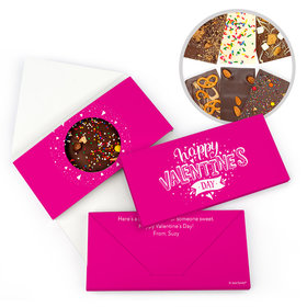 Personalized Hearts and Hugs Valentine's Day Gourmet Infused Chocolate Bars (3.5oz)
