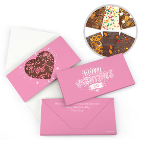 Personalized Hearts and Hugs Valentine's Day Gourmet Infused Belgian Chocolate Bars (3.5oz)