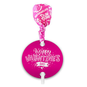 Personalized Hearts and Hugs Valentine's Day Dum Dums with Gift Tag (75 pops)