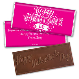 Personalized Valentine's Day Hearts and Hugs Hershey's Embossed Chocolate Bar & Wrapper