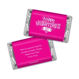 Personalized Valentine's Day Hearts and Hugs Hershey's Miniatures Wrappers
