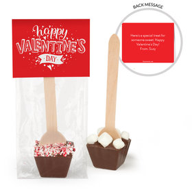 Personalized Valentine's Day Hearts and Hugs Hot Chocolate Spoon