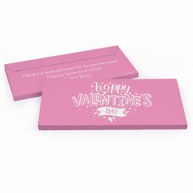 Deluxe Personalized Hearts and Hugs Valentine's Day Chocolate Bar in Gift Box