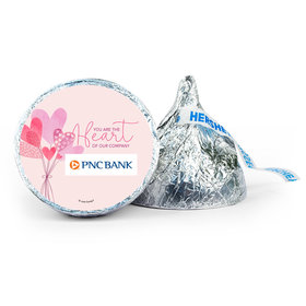 Personalized Valentine's Day Sending Hearts Add Your Logo 7oz Giant Hershey's Kiss