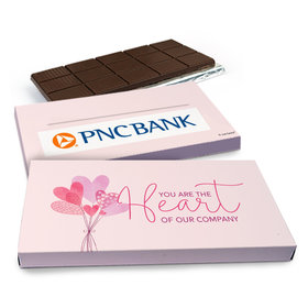 Deluxe Personalized Sending Hearts Add Your Logo Valentine's Day Chocolate Bar in Gift Box (3oz Bar)