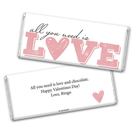 Personalized Valentine's Day All You Need is Love Chocolate Bar Wrappers Only