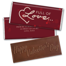 Personalized Valentine's Day Love is in the Air Hershey's Embossed Chocolate Bar & Wrapper