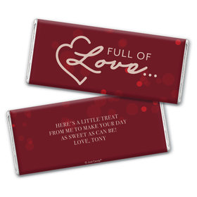 Personalized Valentine's Day Love is in the Air Chocolate Bar Wrappers Only