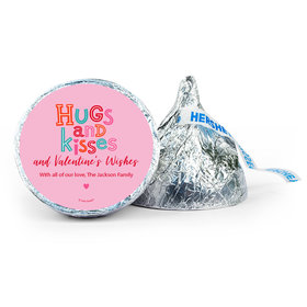 Personalized Valentine's Day Hugs and Kisses 7oz Giant Hershey's Kiss