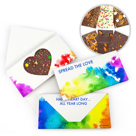 Personalized Spread Love Valentine's Day Gourmet Infused Belgian Chocolate Bars (3.5oz)