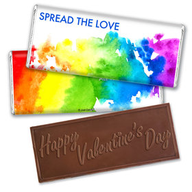 Personalized Valentine's Day Spread Love Hershey's Embossed Chocolate Bar & Wrapper