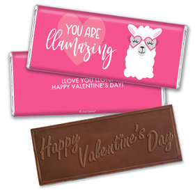 Personalized Valentine's Day Love Llama Hershey's Embossed Chocolate Bar & Wrapper