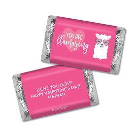 Personalized Valentine's Day Love Llama Hershey's Miniatures Wrappers