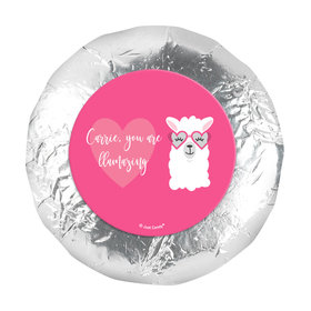 "Personalized Valentine's Day Love Llama 1.25"" Stickers (48 Stickers)"