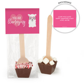 Personalized Valentine's Day Love Llama Hot Chocolate Spoon