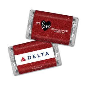 Personalized Valentine's Day Corporate Dazzle Hershey's Miniatures Wrappers