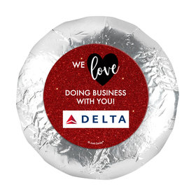 "Personalized Valentine's Day Corporate Dazzle 1.25"" Stickers (48 Stickers)"