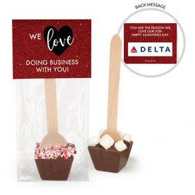 Personalized Valentine's Day Corporate Dazzle Add Your Logo Hot Chocolate Spoon