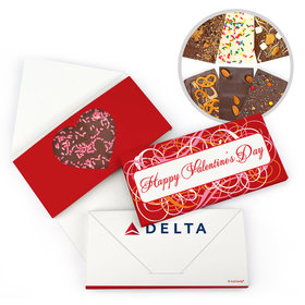Personalized Add Your Logo Swirls Valentine's Day Gourmet Infused Belgian Chocolate Bars (3.5oz)