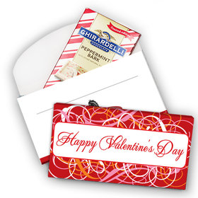 Deluxe Personalized Swirls Valentine's Day Ghirardelli Chocolate Bar in Gift Box (3.5oz)